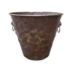 18th Century Dutch Bucket with Lion Pulls