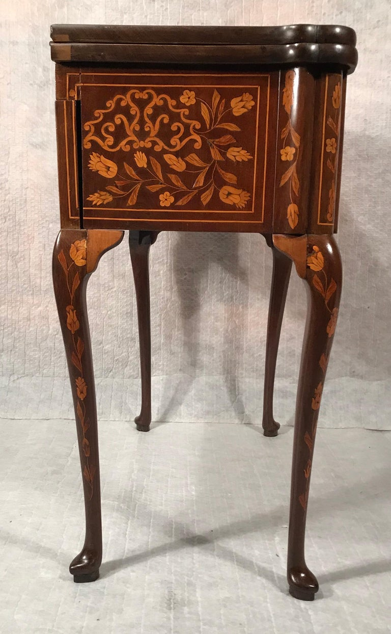 Marquetry 18th Century Dutch Card Table For Sale