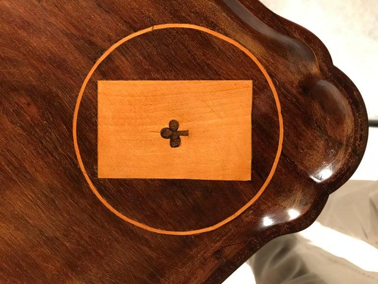 Mahogany 18th Century Dutch Card Table For Sale