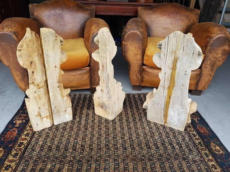 18th Century Dutch Carved Wooden Architectural Ornaments In Good Condition For Sale In Raalte, NL