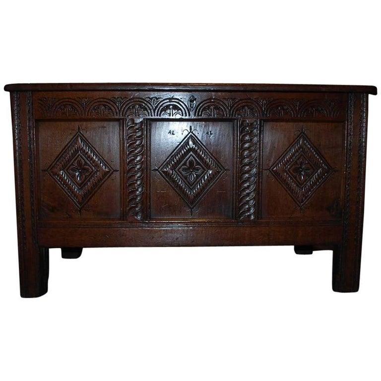 Oak 18th Century Dutch Chest For Sale
