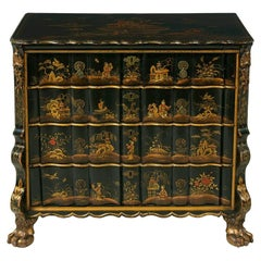 18th Century Dutch Chinoiserie Decorated Chest of Drawers