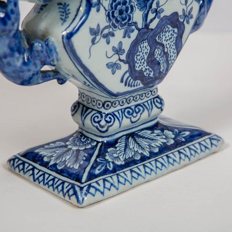 18th Century Dutch Delft Blue and White Tulip Vase 'Tulipiere' For Sale 1