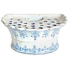 18th Century Dutch Delft Bough Pot / Wall Pocket