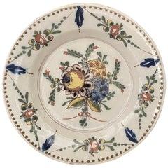 18th Century Dutch Delft Polychrome Plate