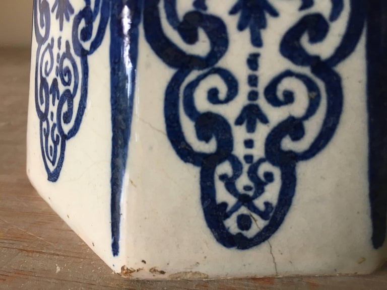 18th Century Dutch Delft Vase For Sale 6