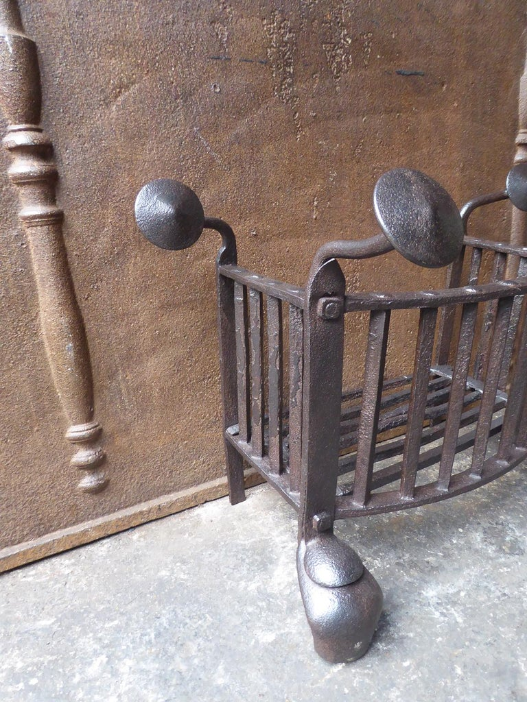 18th Century and Earlier 18th Century Dutch Georgian Fireplace Grate or Fire Grate For Sale