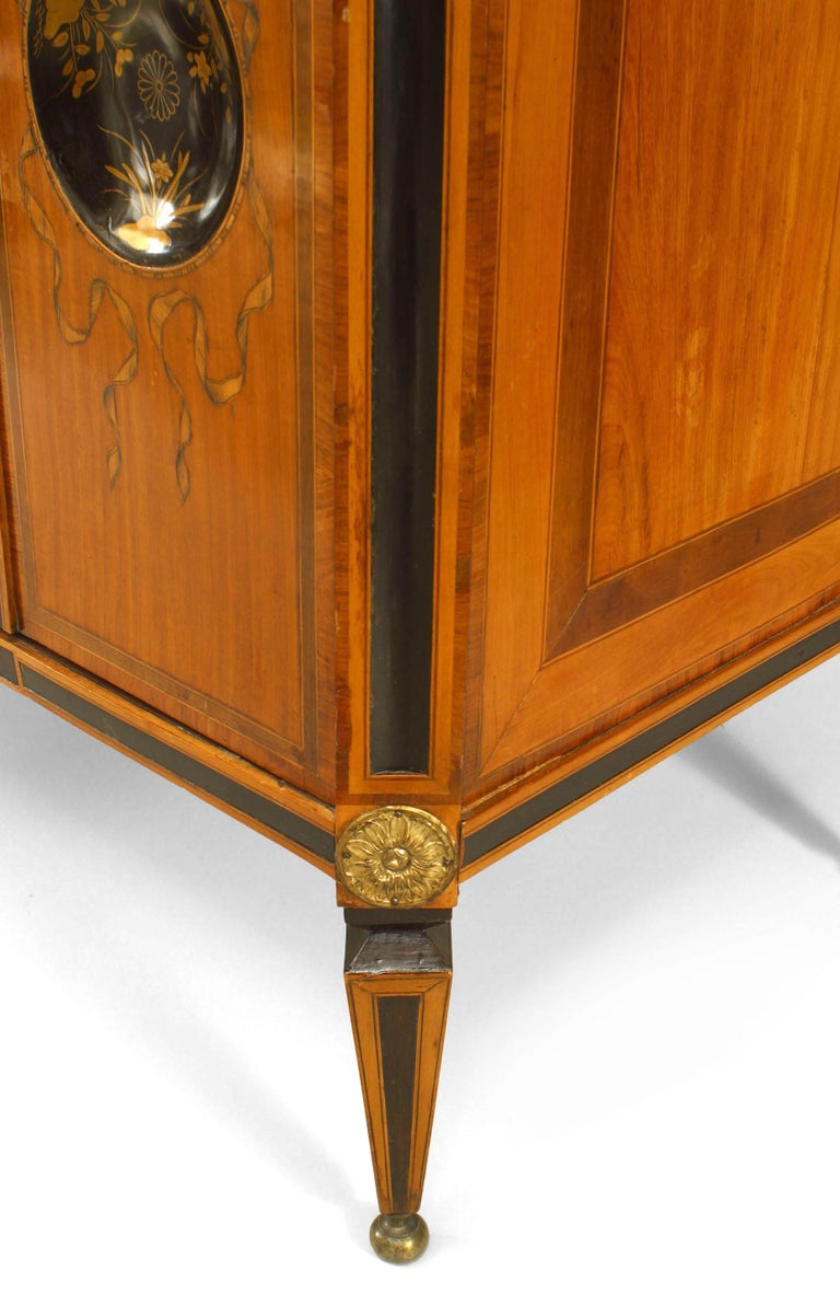 18th Century Dutch Inlaid Satinwood Commode For Sale 1