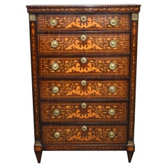 18th Century Dutch Marquetry Chest of Drawers