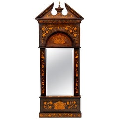 18th Century Dutch Marquetry Mirror