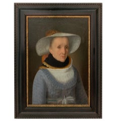18th Century Dutch Oil on Canvas Portrait of a Wealthy Lady