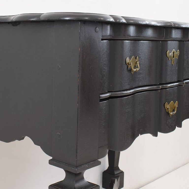 18th Century Dutch Painted Oak Chest of Drawers For Sale 14