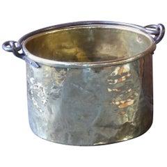 18th Century Dutch Polished Brass Log Holder or Log Basket