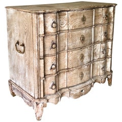 18th Century Dutch Serpentine Front Chest of Drawers