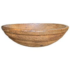 18th Century Early American Ash Burl Bowl
