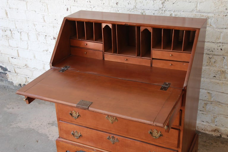 18th Century Early American Chippendale Cherrywood Drop Front