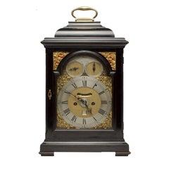 18th Century Ebonized Bracket Clock by John Monkhouse