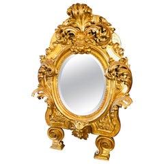 18th Century Empire Italian Gilt Mirror Rome