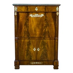 18th Century Empire Secretary Veneered with Mahogany