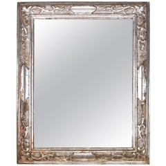 18th Century Empire Style Silverleaf Mirror with Neoclassical Carving