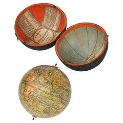 18th Century English Pocket Globe John and William Cary, 1791