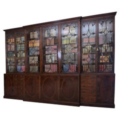 18th Century English Antique Library Bookcase Attributed to Gillows of Lancaster