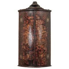 18th Century English Chinoiserie Corner Cabinet