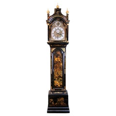 18th Century English Chinoiserie Grandfather Clock
