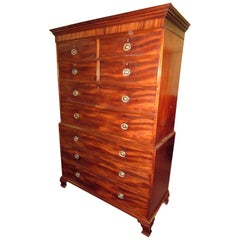 18th century English Chippendale Chest on Chest Large Size