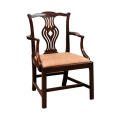18th Century English Chippendale Mahogany Armchair