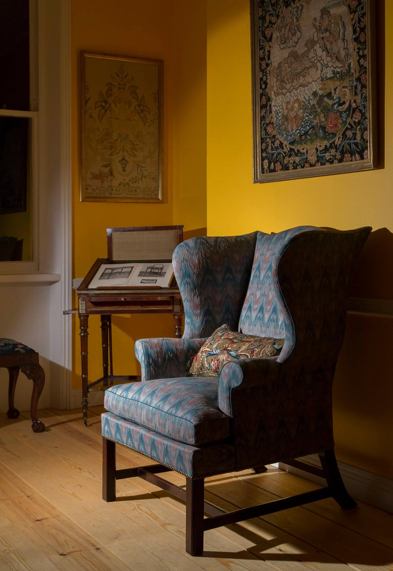 18th Century English Chippendale Wing Chair For Sale 1