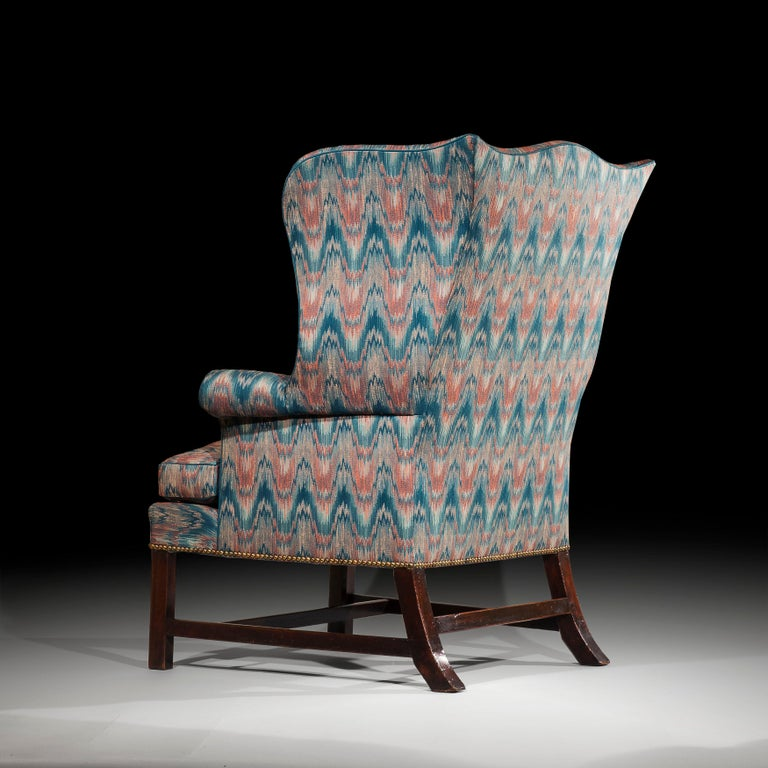 18th Century English Chippendale Wing Chair In Good Condition For Sale In London, GB