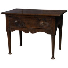 18th Century English Country Oak Lowboy Side Table