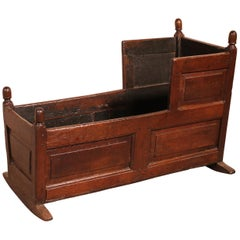 18th Century English Cradle in Oak