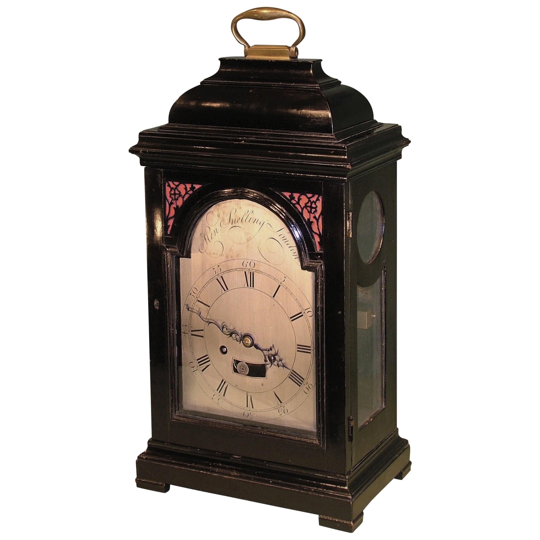 18th Century English Ebonised Bracket Clock