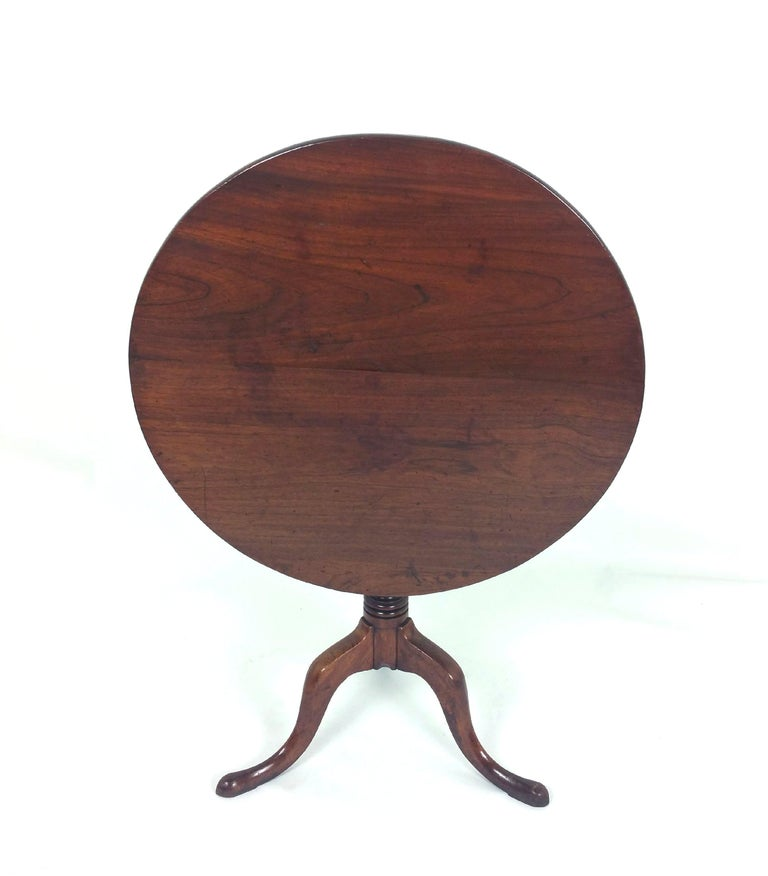 18th Century English Fruit Wood Tilt Top Table For Sale 6