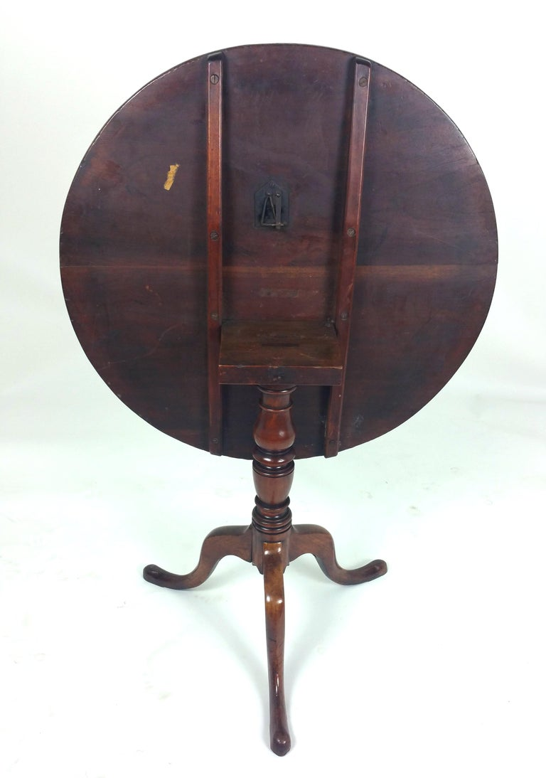 18th Century English Fruit Wood Tilt Top Table For Sale 4