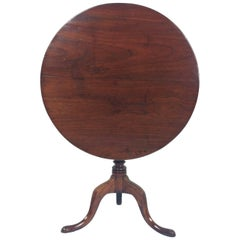 18th Century English Fruit Wood Tilt Top Table