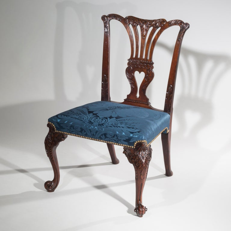 18th Century English George II Chippendale Period Rococo Chair For Sale 7