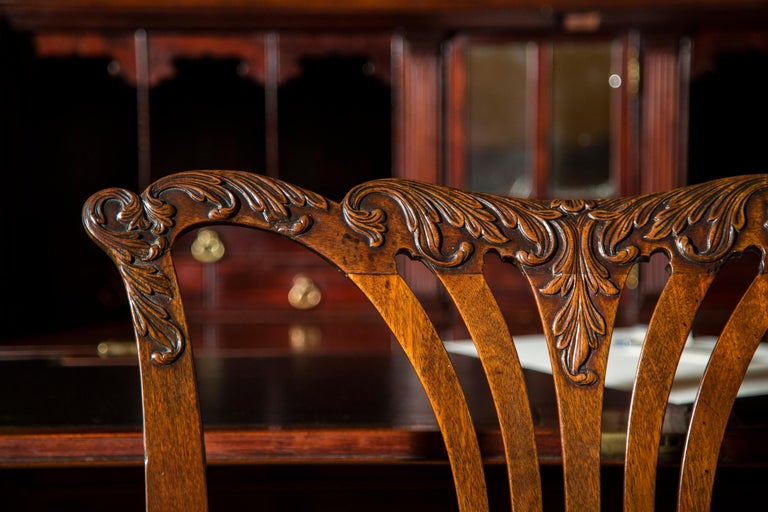 18th Century English George II Chippendale Period Rococo Chair For Sale 1