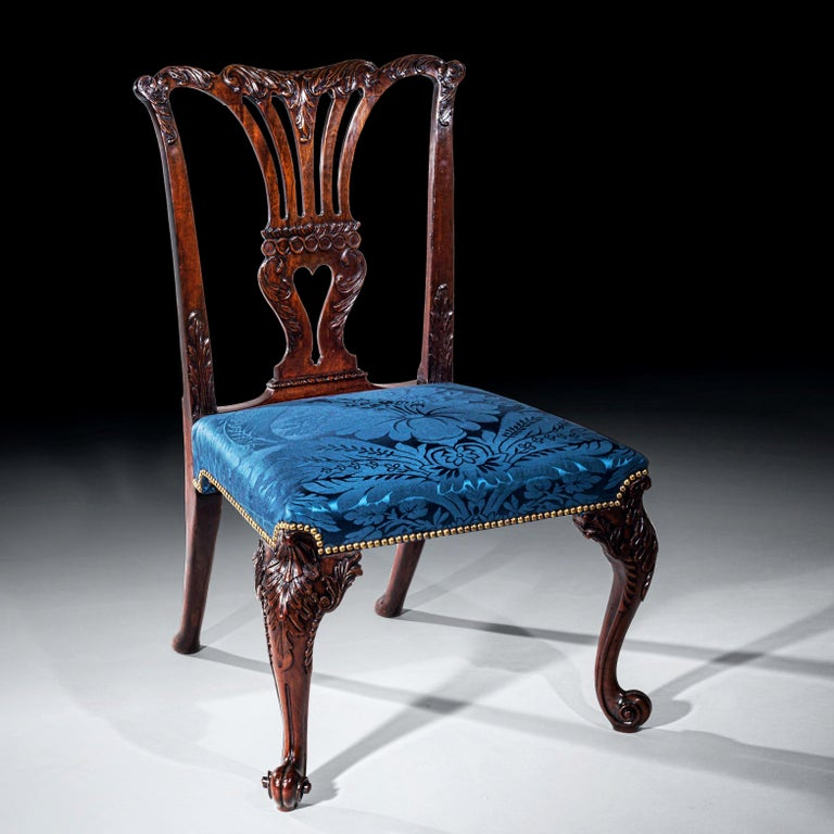 18th Century English George II Chippendale Period Rococo Chair For Sale 2