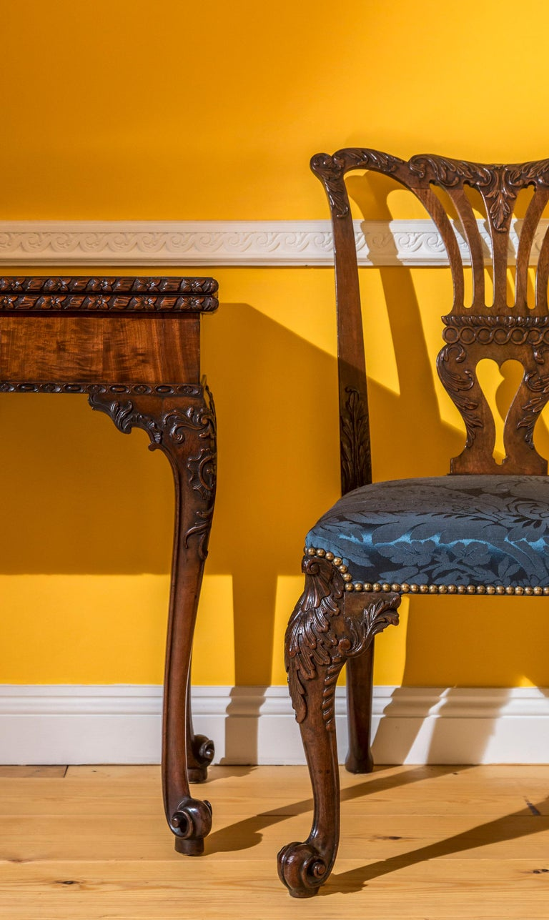 18th Century English George II Chippendale Period Rococo Chair For Sale 3