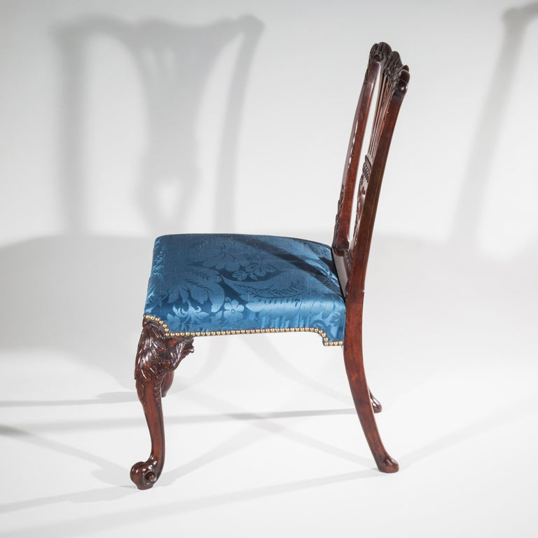 18th Century English George II Chippendale Period Rococo Chair For Sale 4