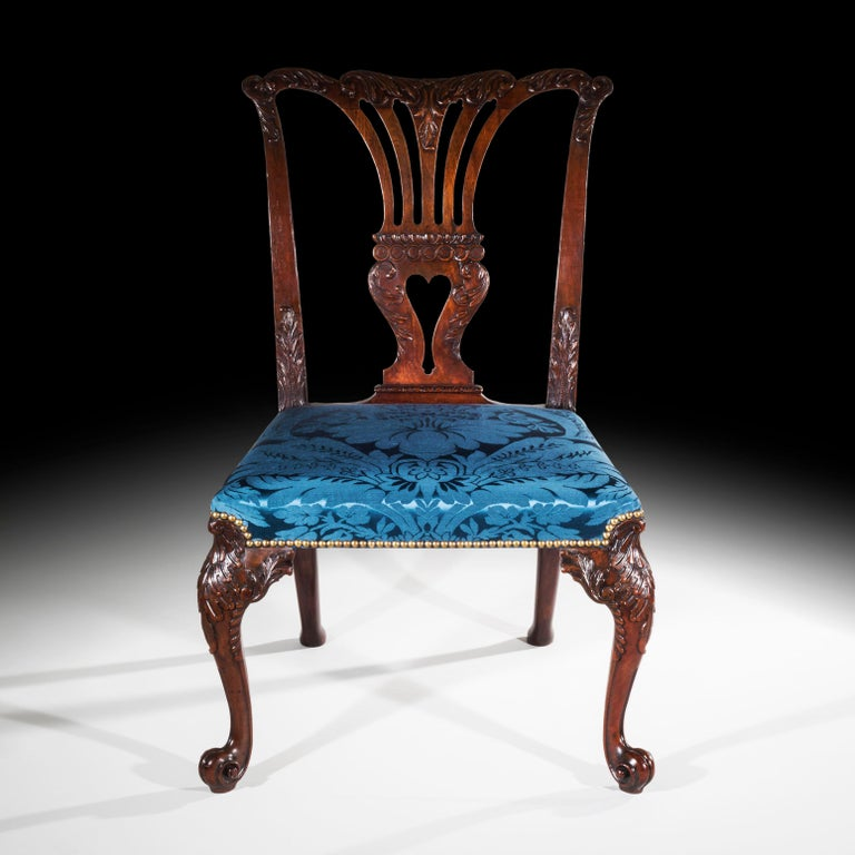 18th Century English George II Chippendale Period Rococo Chair For Sale 5