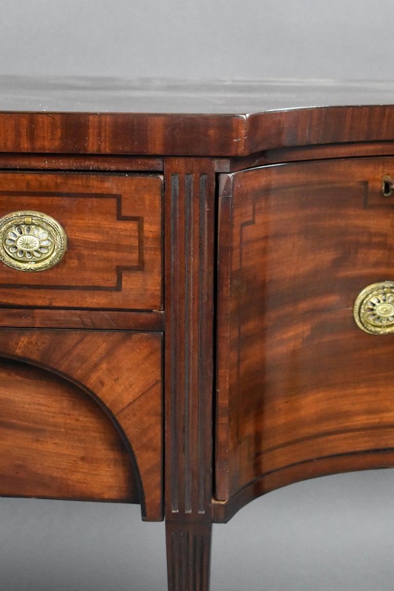18th Century English George III Mahogany Sideboard For Sale 9