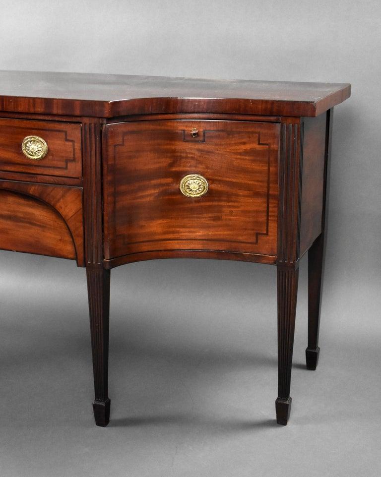 18th Century English George III Mahogany Sideboard For Sale 2