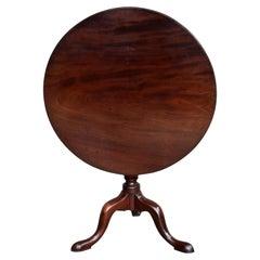 18th Century English George III Mahogany Snap Top Table
