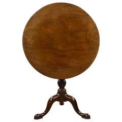 18th Century English George III Mahogany Tripod Table