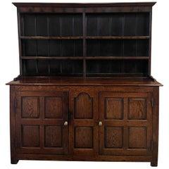 18th Century English George III Oak Welsh Dresser, Fine Patina