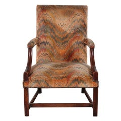 18th Century English Georgian Armchair Gainsborough Chair